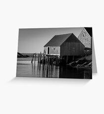 Fishing Village at Peggys Cove Nova Scotia Greeting Card