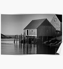 Fishing Village at Peggys Cove Nova Scotia Poster