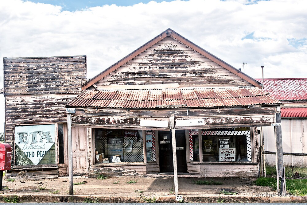 Decaying shop, Junee by Caroline Duncan