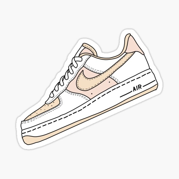 Rosa y Beige Air Force One Pegatina