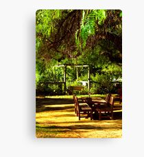 Boorooban pub beer garden Canvas Print