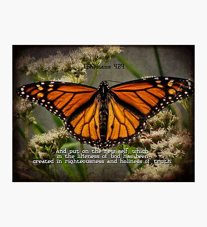 put on the new self-Ephesians 4:24 Photographic Print