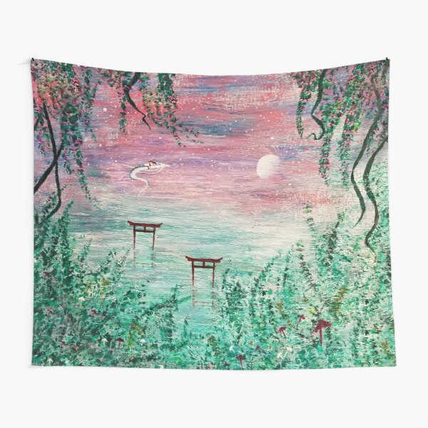 Haku Dragon River Spirit Tapestry