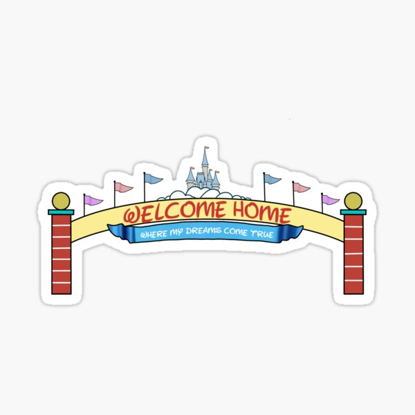 Welcome Home Sign Sticker