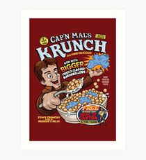 Captain Mal's Krunch Cereal Art Print