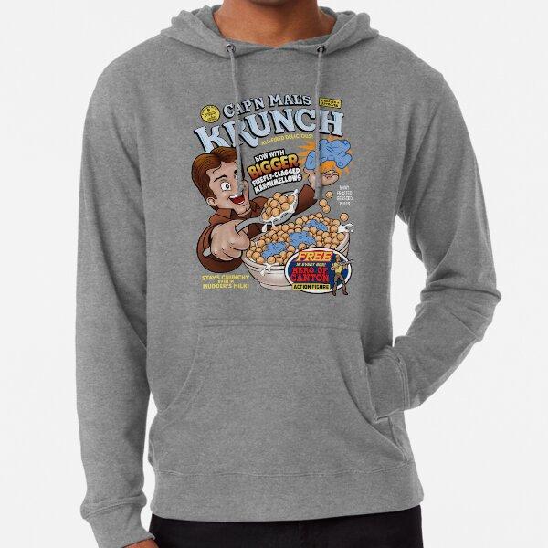 El cereal Krunch del Capitán Mal Sudadera ligera con capucha