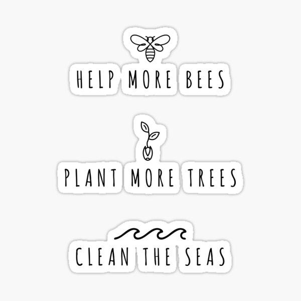 Pflanzt mehr Bäume Sticker