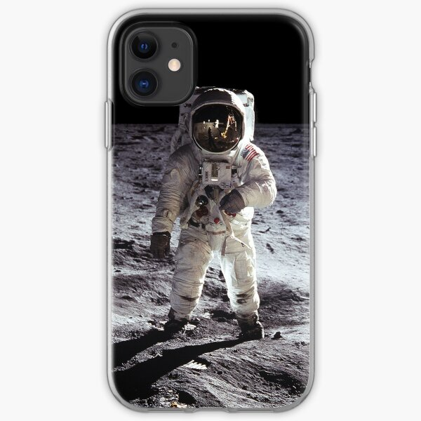 Buzz Aldrin on the Moon NASA iPhone/iPad Space Case iPhone Soft Case