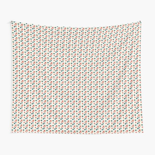 Patterned Red Green Stone Tapestry