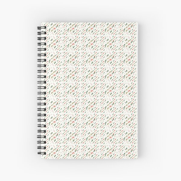 Coloured Cultural Fine Print Spiral Notebook