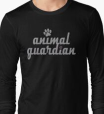 animal guardian - animal cruelty, vegan, activist, abuse Long Sleeve T-Shirt