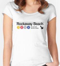 Rockaway Beach - Color Women's Fitted Scoop T-Shirt
