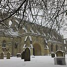 Malmesbury Abbey in the Snow 2013 by Iani