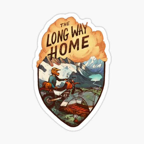 The Long Way Home Sticker