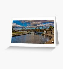 Leeds and Liverpool Canal at Bingley Greeting Card