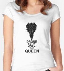 Drone Save The Queen Women's Fitted Scoop T-Shirt