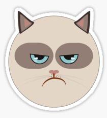 Minimal Grumpy Cat Sticker