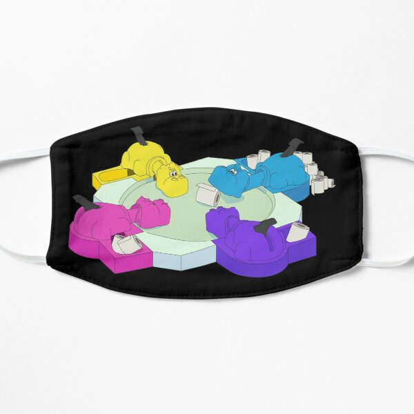 Hungry Hoarding Hippos (Graphic only) Flat Mask