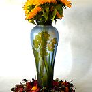 SUN FLOWER VASE by Paul Quixote Alleyne