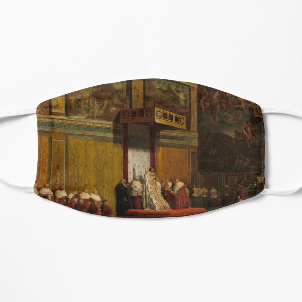 Pope Pius VII in the Sistine Chapel Oil Painting by Jean-Auguste-Dominique Ingres Flat Mask