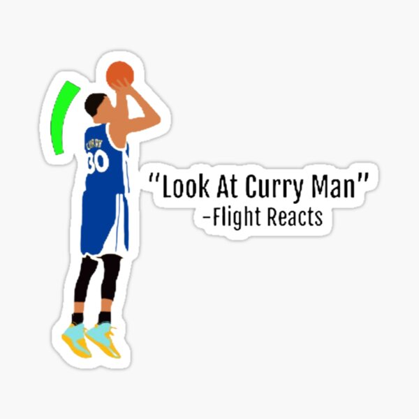 Look At Curry Man L Flight Reacts Green Light L 2k20 Sticker By H00pingcentral Redbubble