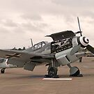 """Messerschmitt BF109 G-4 - """"Rote Sieben"""" by Barrie Woodward"""