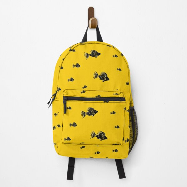 Sun-Fish, paper cut and graphic design, bold and bright  Backpack