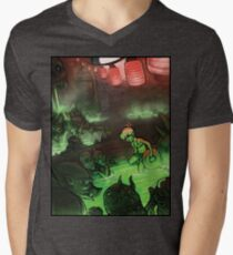 Monster Hotspring Men's V-Neck T-Shirt
