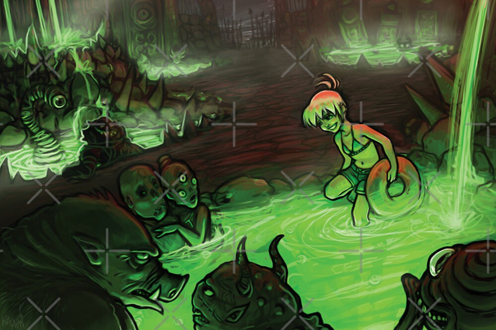 Monster Hotspring by Razvan-Sedekiah