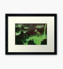 Monster Hotspring Framed Print