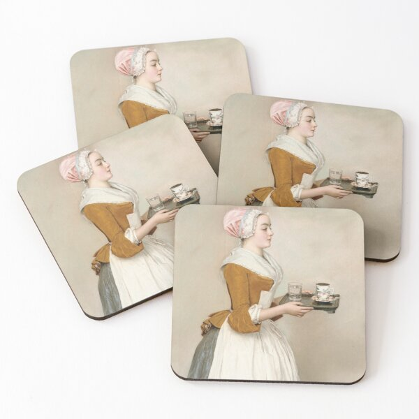 Jean-Etienne Liotard - The Chocolate Girl Coasters (Set of 4)