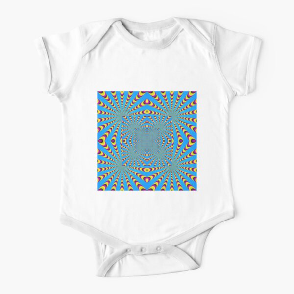 Blue optical illusions colour Short Sleeve Baby One-Piece