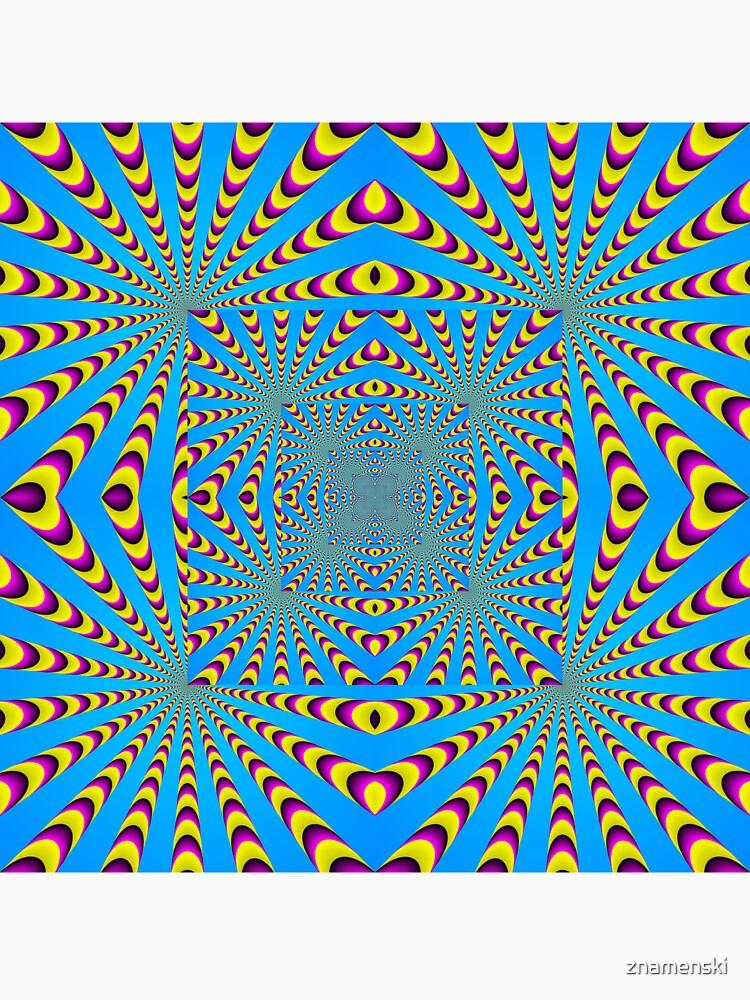 Blue optical illusions colour by znamenski