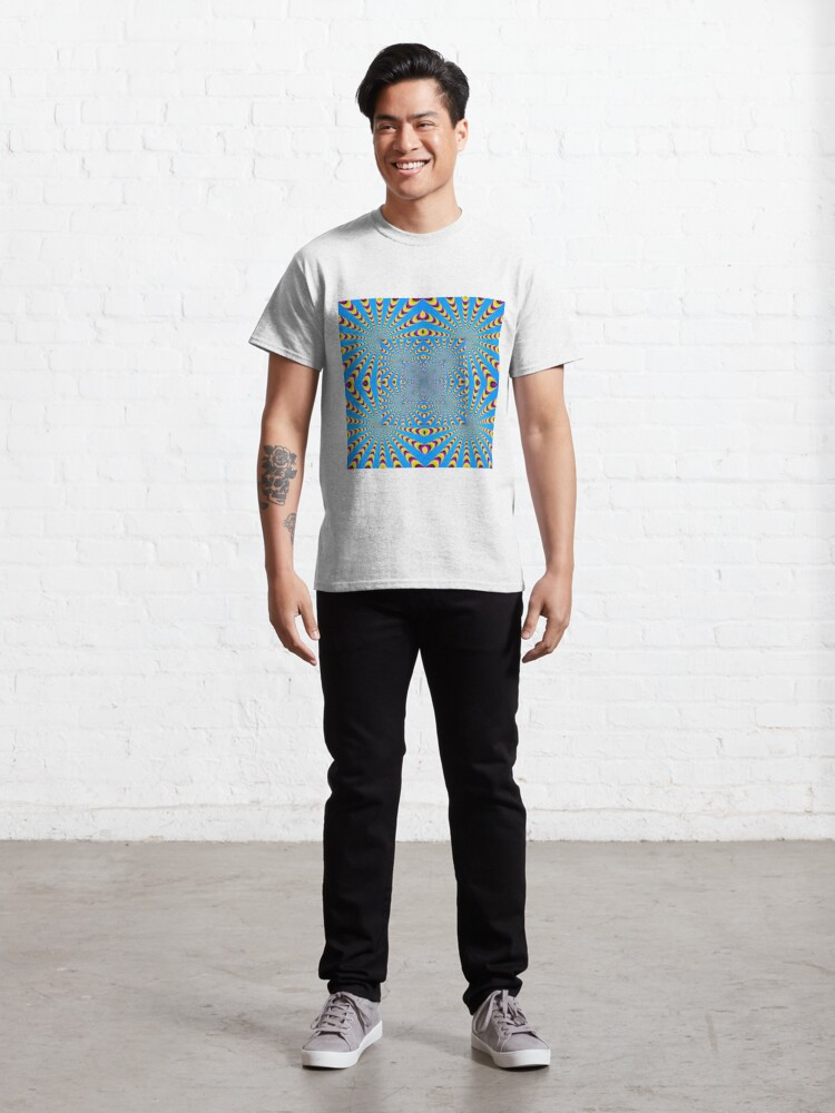 Alternate view of Blue optical illusions colour Classic T-Shirt