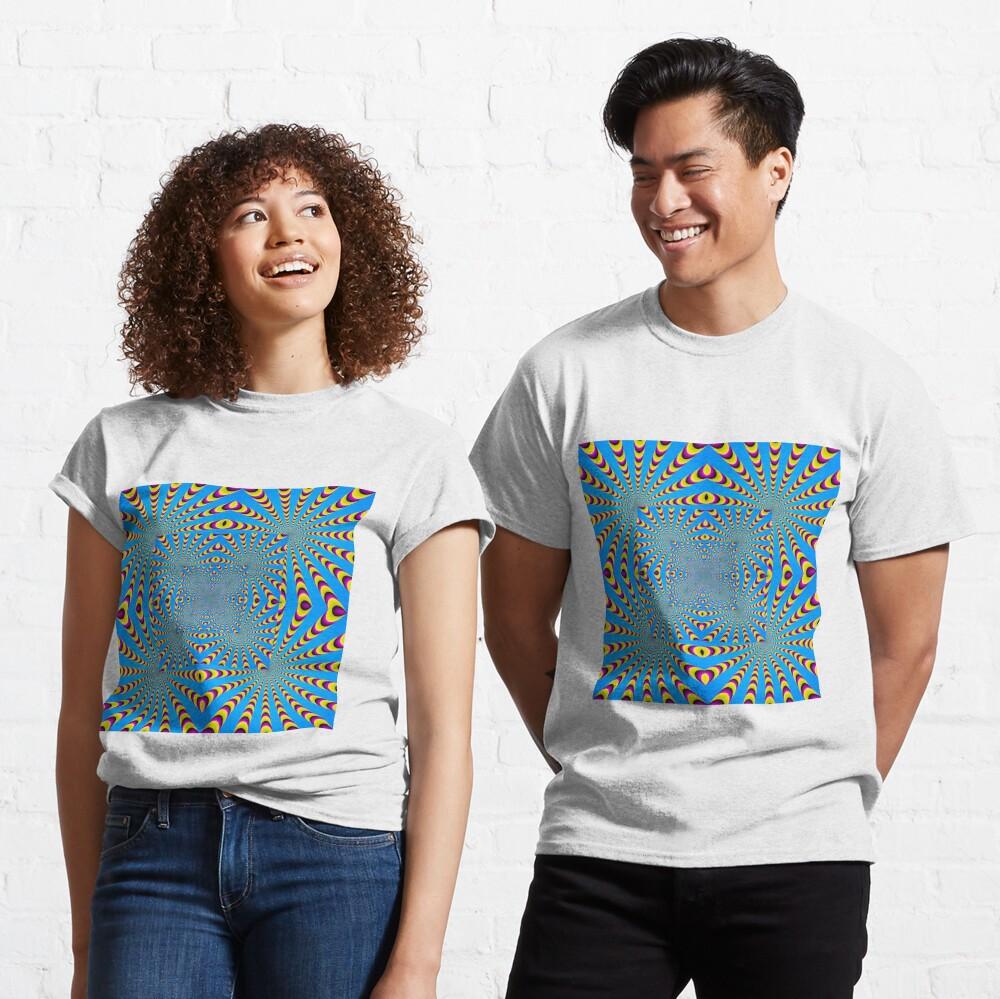Blue optical illusions colour Classic T-Shirt