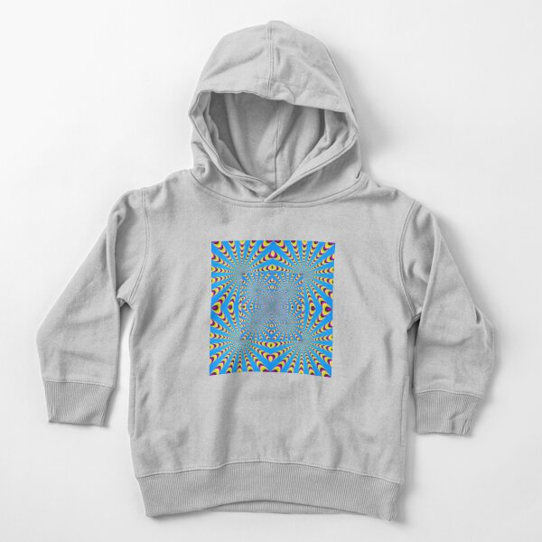 Blue optical illusions colour Toddler Pullover Hoodie