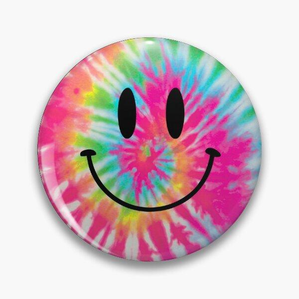 tie dye happy face Pin