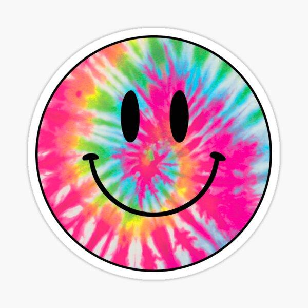 tie dye happy face Sticker