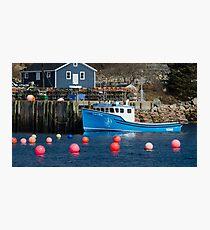 Nova Scotia Fishing Village Photographic Print