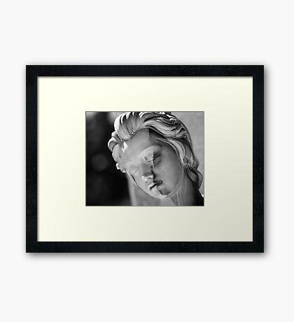 Split Face Framed Print
