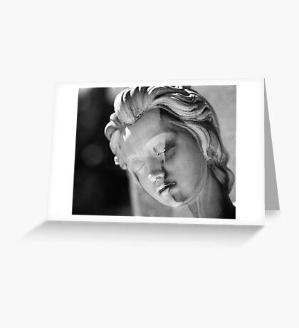 Split Face Greeting Card