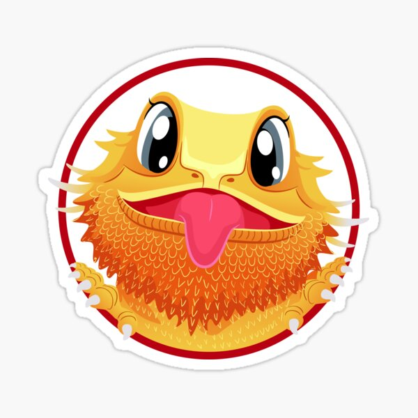 Bearded Dragon Sticking Tongue Out Sticker