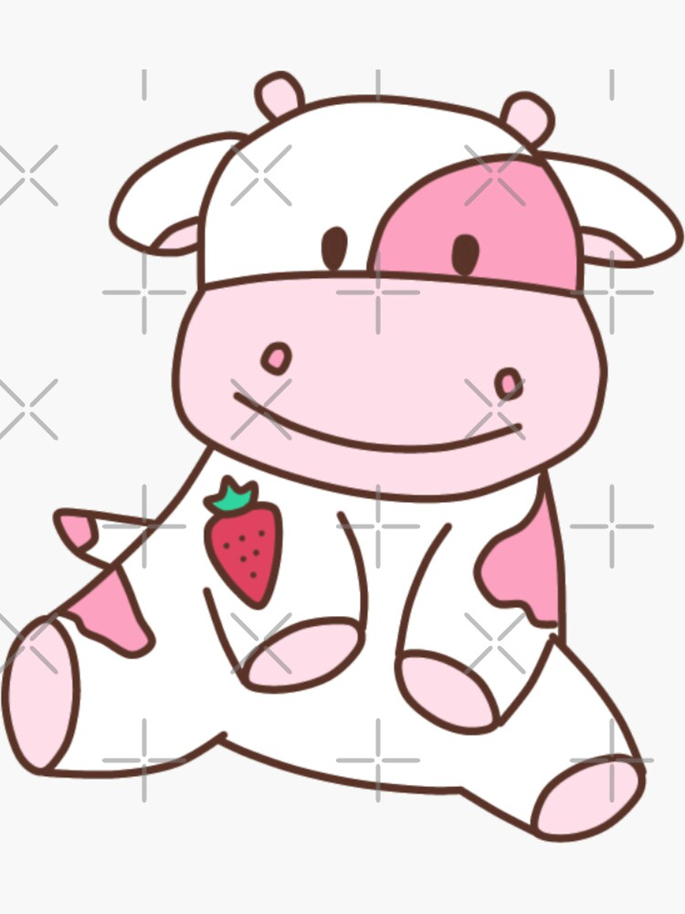 strawberry cow by adequatedesigns