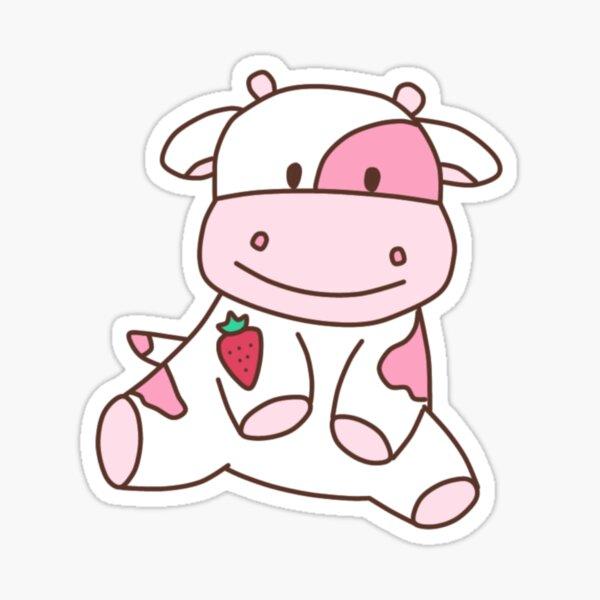 vaca de fresa Pegatina