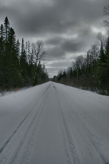 Road from Lake Opeongo, Ontario, Canada by Allen Lucas