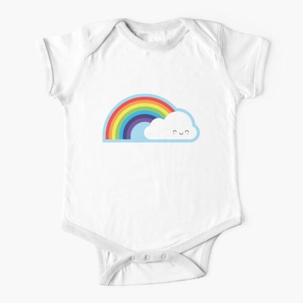 Kawaii Rainbow Short Sleeve Baby One-Piece