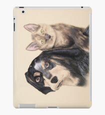Blue Tick Hound And Calico Cat iPad Case/Skin