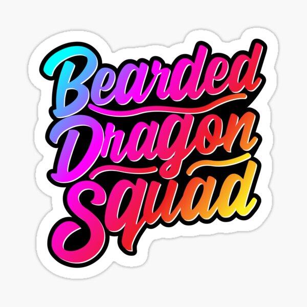 Bearded Dragon Squad Sticker
