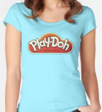 Vintage Play-Doh logo Women's Fitted Scoop T-Shirt