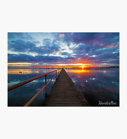 Griffiths Gully Jetty Sunrise Photographic Print